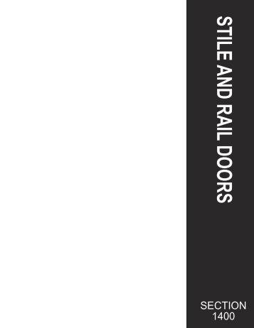 Sectio 1400: Stile & Rail Doors - Mod Interiors