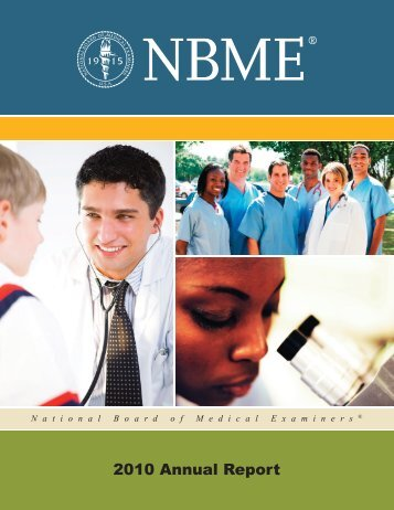 Annual Report(PDF) - National Board of Medical Examiners