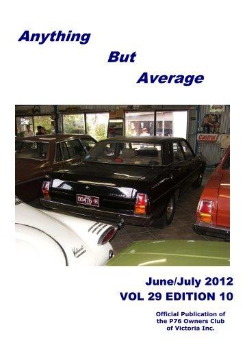 June 2012 - Leyland P76 Club of Victoria