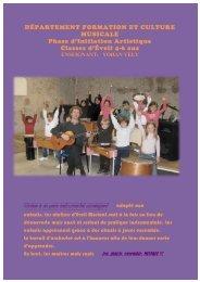 présentation département formation et culture musicale