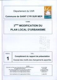 Rapport de Présentation - Modif 3 PLU - Mairie de Saint Cyr sur Mer