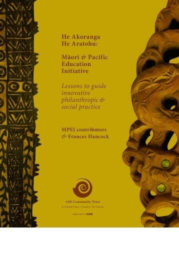 Download He Akoranga He Aratohu (PDF, 4Mb) - ASB Community ...