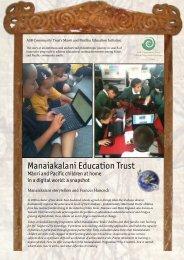 Read a four-page summary of what Manaiakalani has already ...