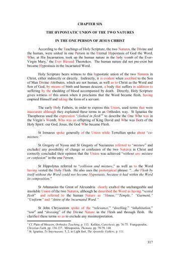 028 part 3 chapter 6 the hypostatic union - Orthodox-mitropolitan-of ...