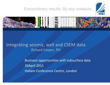 Integrating seismic, well and CSEM data