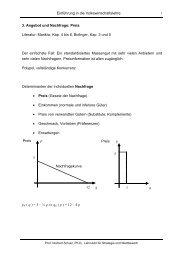 Einführung in die Volkswirtschaftslehre 3. Angebot und Nachfrage ...