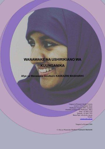 Wanawake na Ushirikiano wa Kuunganika - Ishar Multicultural ...