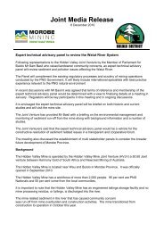 Joint Hidden Valley Bulolo District media release ... - Act Now!