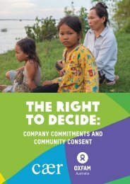 Oxfam Australia and CAER: The right to decide