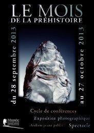 Consultez le programme complet - Musée d'Archéologie Nationale