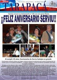Boletín Edición Abril-Junio 2010 - SERVIU Tarapaca - Ministerio de ...