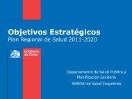 Objetivos Estratégicos - Servicio de Salud Coquimbo