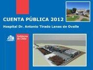 CUENTA PÚBLICA 2012 - Servicio de Salud Coquimbo