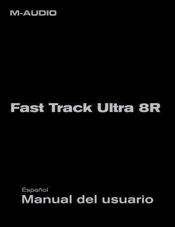 Manual del usuario | Fast Track Ultra 8R - m-audio