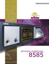 Optimod technology - Orban Europe