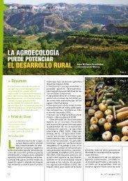 La agroecología puede potenciar el desarrollo rural. J. M. Egea ...