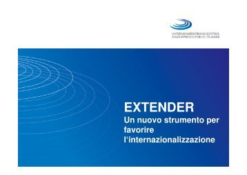 Intervento Extender - Assoimprenditori Alto Adige
