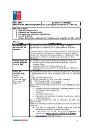 Acta Reunion - Servicio de Salud Coquimbo