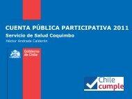Cuenta Publica 2011 - Servicio de Salud Coquimbo