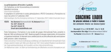 FESTO Invito - Assoimprenditori Alto Adige