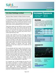 Increase Exposur ee - Uni-Asia Finance Corporation