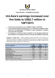 Press Release - Uni-Asia Finance Corporation