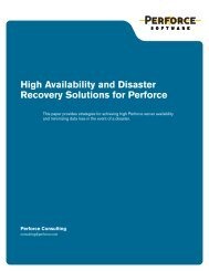 High Availability and Disaster Recovery Solutions for Perforce