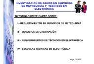 investigación de campo en servicios de metrología y técnicos en ...
