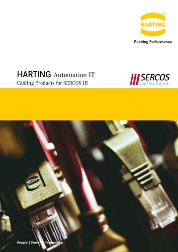 HARTING Automation IT Cabling products for SERCOS III