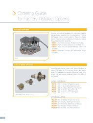 Ordering Guide for Factory-Installed Options - ORBIT/FR, Inc.
