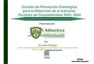 Estudio de Planeación Estratégica para la Retención de la Industria ...