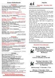 Unsere Gottesdienste - Bugenhagen-kirche.de