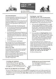 Einführung des neuen Kirchenvorstands Der neue Kirchenvorstand ...