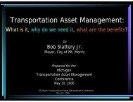 Transportation Asset Management: - Michigan's Local Technical ...