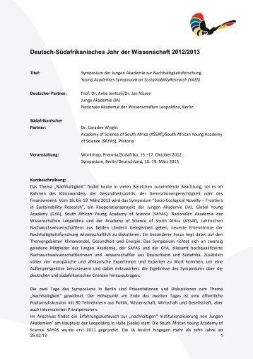 Symposium der Jungen Akademie zur Nachhaltigkeitsforschung