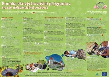Ponuka ekovýchovných programov