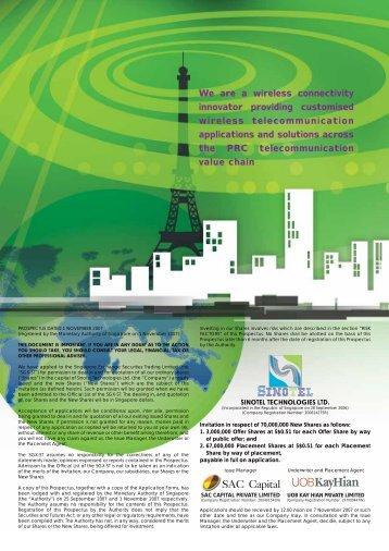 SinoTel Technologies Ltd - EV Capital