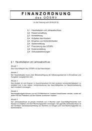 F I N A N Z O R D N U N G - Squash in Oberösterreich