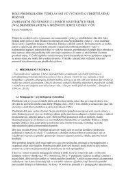 role předškolního vzdělávání ve výchově k udržitelnému rozvoji ...