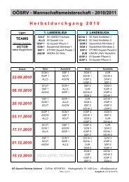 SPIELPLAN Saison 2010-2011.pdf - Styria Squash People