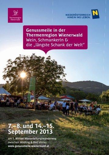 Genussmeile Flyer - Thermenregion-Wienerwald.at