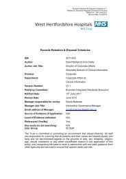 Records Retention & Disposal Schedules - West Hertfordshire ...