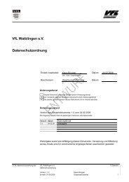 VfL Waiblingen e.V. Datenschutzordnung