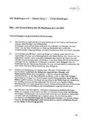 Miet- und Kostenordnung - VfL Waiblingen
