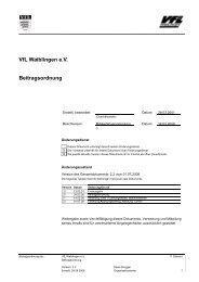 VfL Waiblingen e.V. Beitragsordnung