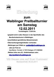 Einladung [57.0 KB] - Prellball - VfL Waiblingen