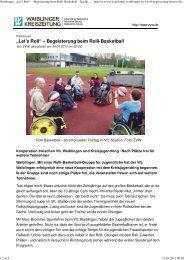 Bericht Waiblinger Zeitung - VfL Waiblingen