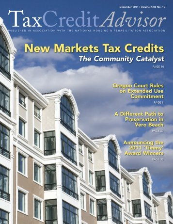 New Markets Tax Credits: The Community Catalyst - Finance Fund