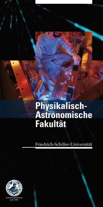 Physikalisch- Astronomische Fakultät - physik2.uni-jena.de