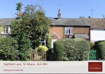 Highfield Lane, St Albans, AL4 0RH - Vebra